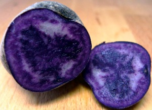 Peruvian blue potatoes